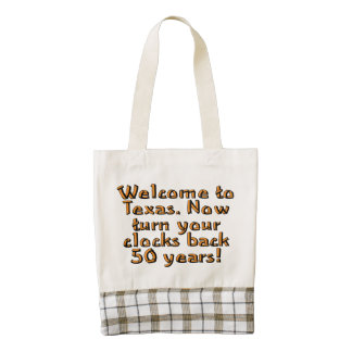 Welcome to Texas. Now turn your clocks back 50... Zazzle HEART Tote Bag