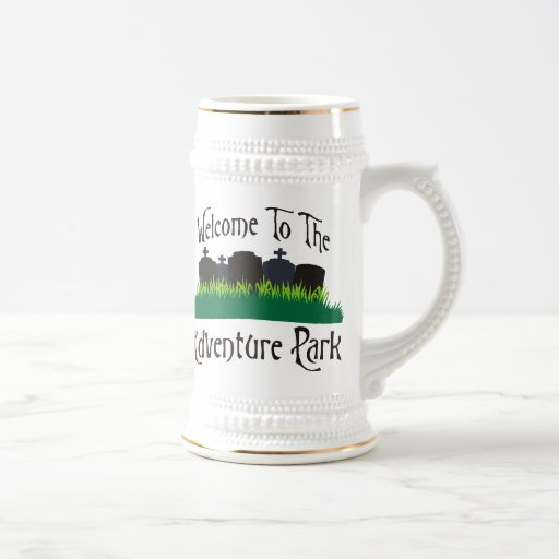 Welcome To The Adventure Park 18 Oz Beer Stein
