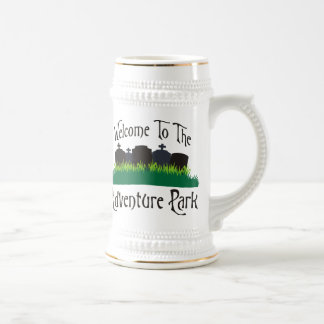 Welcome To The Adventure Park Beer Stein