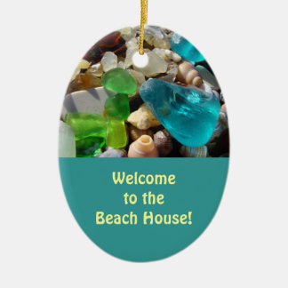 Welcome to the Beach House! oranments Enjoy! Ceramic Ornament