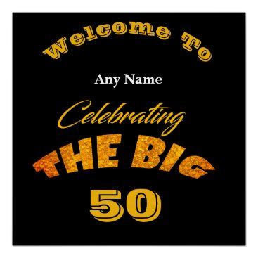 Art Themed Welcome To ... The BIG Any Year Man's Birthday  - Poster