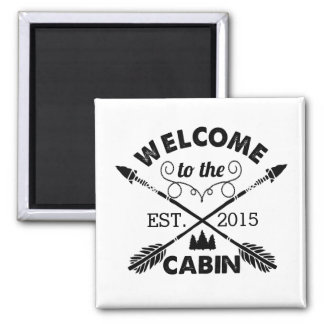 Welcome to the Cabin | Rustic Arrows & Pine Tree Magnet