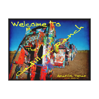Welcome To The Cadillac Ranch Canvas Print