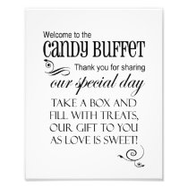Welcome to the Candy Buffet - Box - Wedding Sign