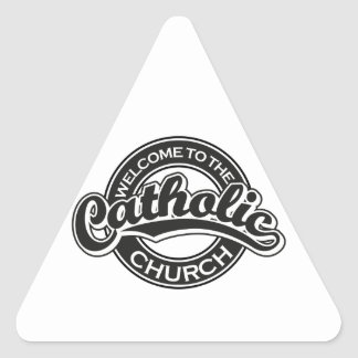 Welcome to the Catholic Church in Black Stickers