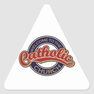 Welcome to the Catholic Church Triangle Stickers