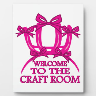 Welcome to The Craft Room Plaque