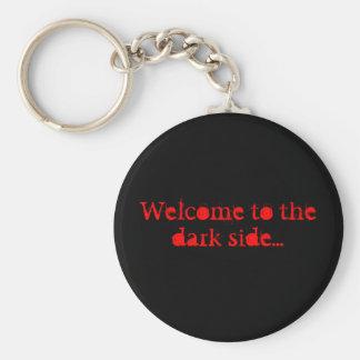 Welcome to the dark side... basic round button keychain