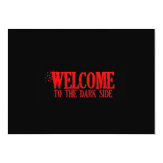 WELCOME TO THE DARK SIDE RED BLACK MOTTO COMMENTS CARD