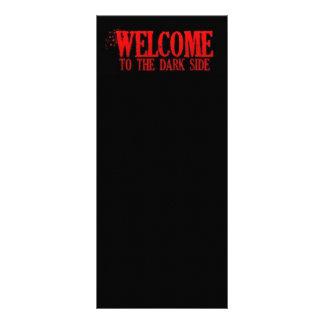 WELCOME TO THE DARK SIDE RED BLACK MOTTO COMMENTS RACK CARD