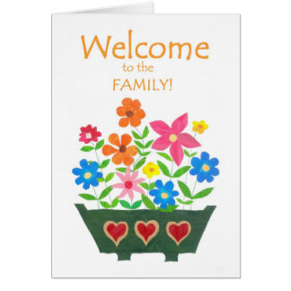 Welcome to the Family Card - Flower Power