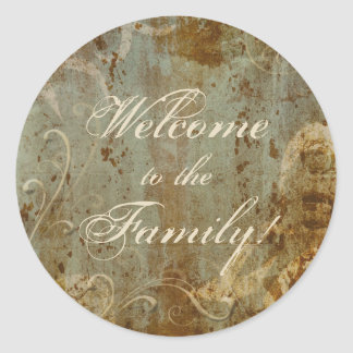 Welcome to the Family Classic Round Sticker
