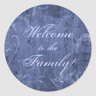 Welcome to the Family (Midnight blue) Classic Round Sticker