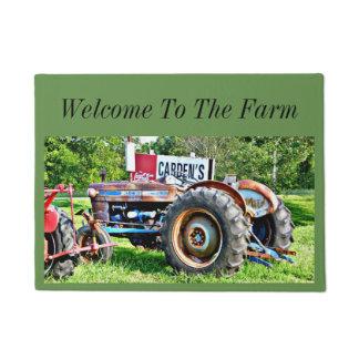 Welcome To The Farm Tractor Door Mat