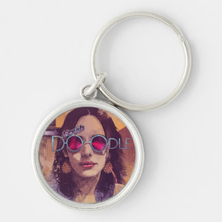 Welcome to the Fresh Doodle Silver-Colored Round Keychain