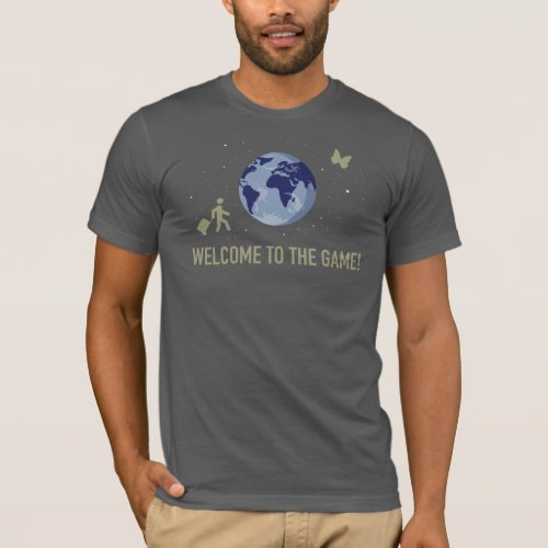 Welcome to the Game on dark grey T_Shirt