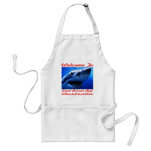 Welcome To The Great Barrier Reef Shark Adult Apron