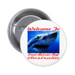 Welcome To The Great Barrier Reef Shark Button