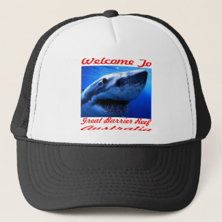 Welcome To The Great Barrier Reef Shark Trucker Hat