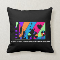 Welcome to the Gummy Yummy Rainbow Pool Party! Throw Pillow