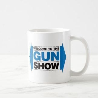 Welcome To The Gun Show - Black and Blue Classic White Coffee Mug