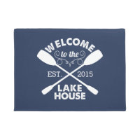 Welcome to the Lake House | Navy & White Paddles