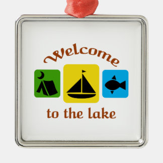Welcome To The Lake Metal Ornament