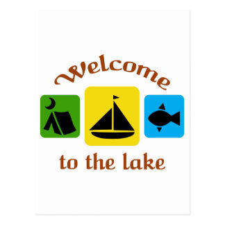 Welcome To The Lake Postcard