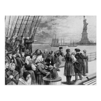 Welcome to the Land of Freedom from Ellis Island Postcard