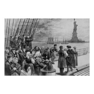 Welcome to the Land of Freedom from Ellis Island Poster