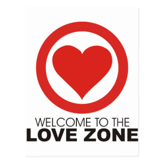 Welcome to the Love Zone Postcard