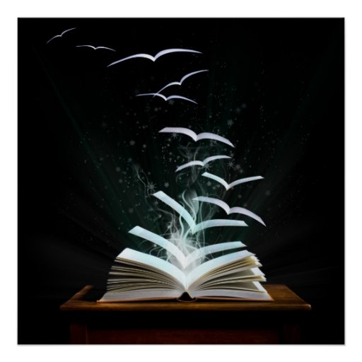 Welcome to the magical world of reading! posters