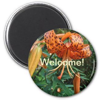 Welcome to the Neighborhood Turk's Cap Lily Magnet