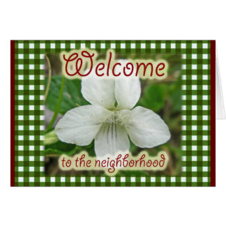 Welcome to the Neighborhood White Violet Card