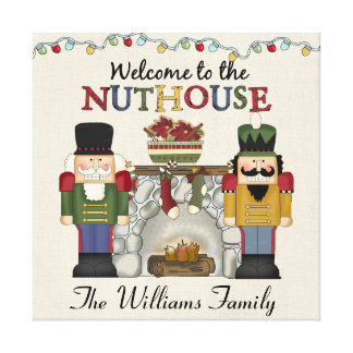 Welcome to the NUTHOUSE Personalized Gallery Wrapped Canvas
