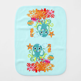 Welcome to the Ocean Burp Cloth