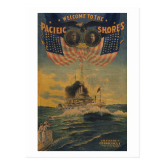 Welcome to the Pacific Shores. Flagship Connecticu Postcard