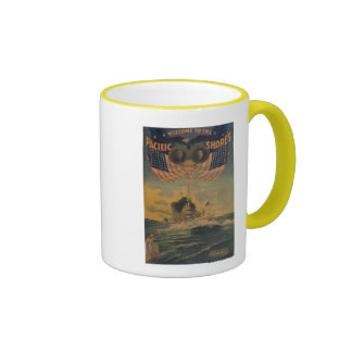 Welcome to the Pacific Shores. Flagship Connecticu Ringer Mug