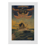 Welcome to the Pacific Shores. FlagshipConnecticut Poster