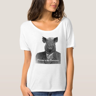 Welcome to the Plutocracy Funny Pig Customizable T Shirt