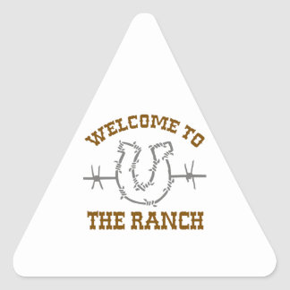 WELCOME TO THE RANCH TRIANGLE STICKER