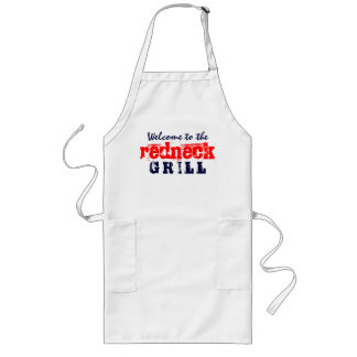 Welcome to the redneck Grill Long Apron