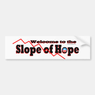 Welcome to the Slope of Hope Car Bumper Sticker