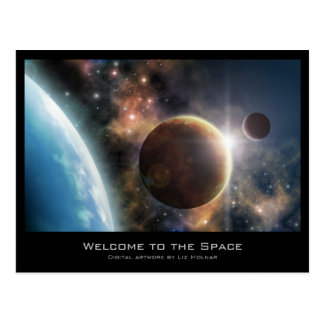 Welcome to the Space Postcard