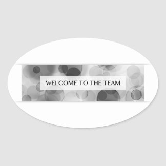 welcome to the team (bokeh) oval sticker