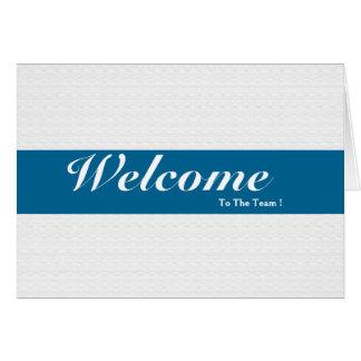 Welcome To The Team White Minimal Blue Badge Card