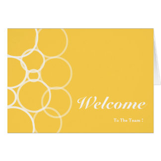 Welcome To The Team Yellow Circle Card