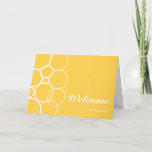 Welcome to the team cards zazzle welcome to the team yellow circle card m4hsunfo
