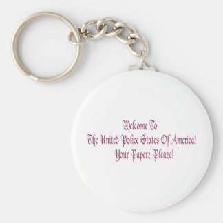 Welcome to the United Police States of America Keychain