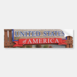 Welcome to the USA Car Bumper Sticker